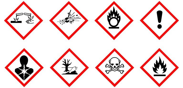 Kennzeichnung chemischer Produkte gemäß der CLP-Verordnung Warnhinweise und Gefahrenpiktogramme